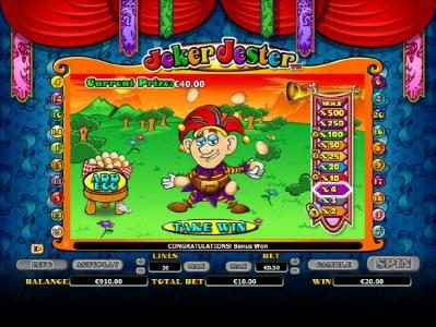 Enzo Casino featuring the Video Slots Joker Jester with a maximum payout of $1,000