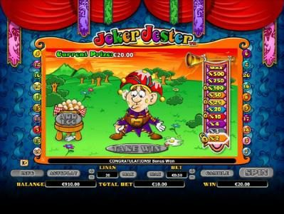 Play Club Casino featuring the Video Slots Joker Jester with a maximum payout of $1,000