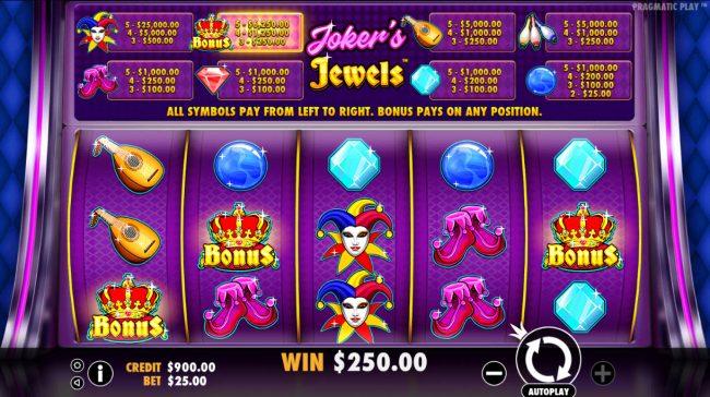 Joker's Jewels :: Scatter Win