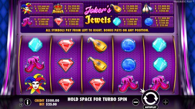 Joker's Jewels :: Main Game Board