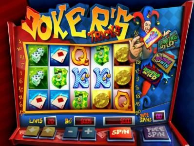 Slotland featuring the Video Slots Joker's Tricks with a maximum payout of $200