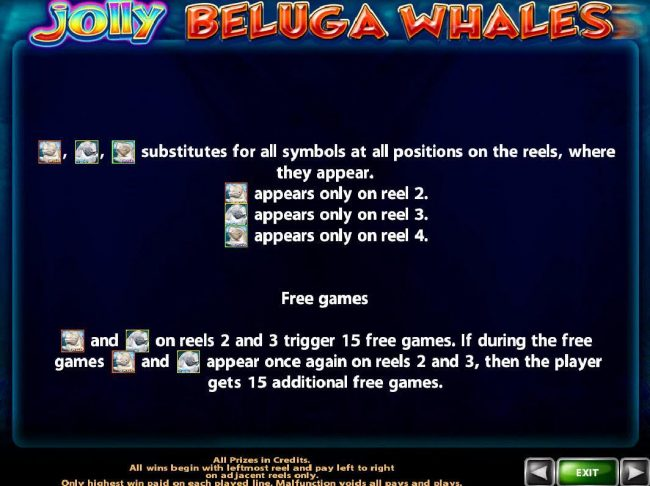 21 Nova featuring the Video Slots Jolly Beluga Whales with a maximum payout of $100,000