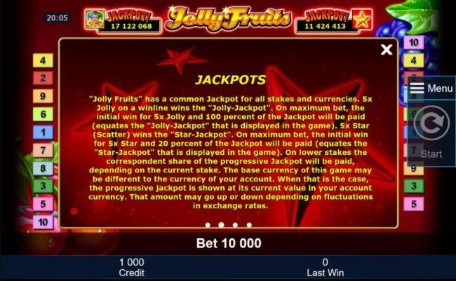 Progressive Jackpot Game Rules