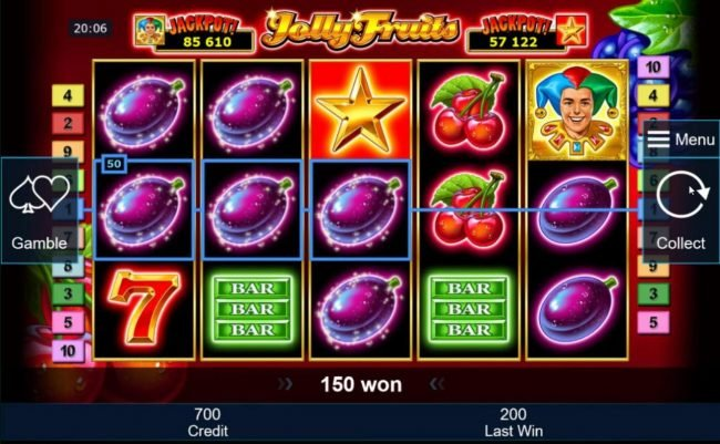 Winner Million featuring the Video Slots Jolly Fruits with a maximum payout of Jackpot