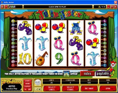 7 Gods Casino featuring the Video Slots Jolly Jester with a maximum payout of $10,000