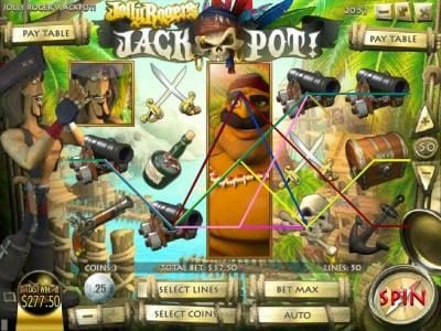 Casino Moons featuring the Video Slots Jolly Rogers Jackpot with a maximum payout of $12,500