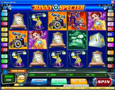 Play slots at Music Hall: Music Hall featuring the Video Slots Jonny Specter with a maximum payout of $7,500