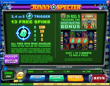 Wild Jackpots featuring the Video Slots Jonny Specter with a maximum payout of $7,500