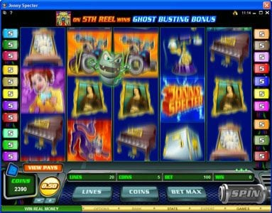 Vegas Hero featuring the Video Slots Jonny Specter with a maximum payout of $7,500