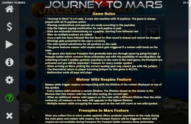 Journey to Mars :: General Game Rules