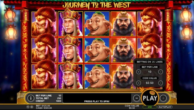Casino States featuring the Video Slots Journey to the West with a maximum payout of $50,000