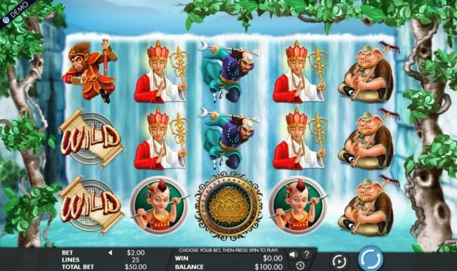 Trada featuring the Video Slots Journey to the West with a maximum payout of $5,000