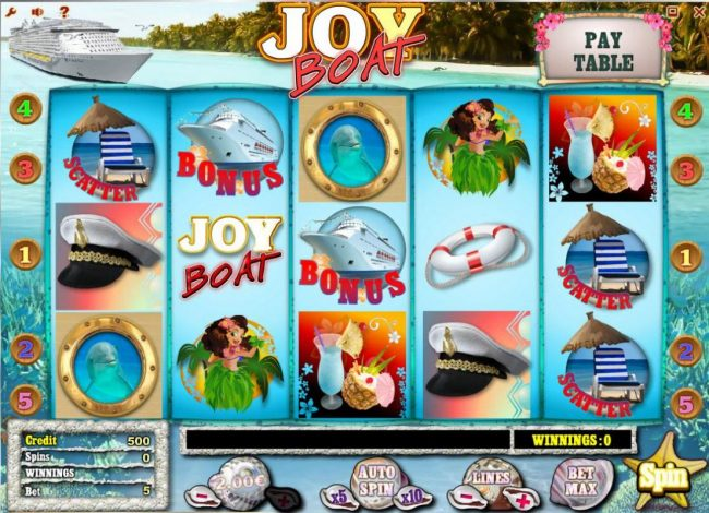 Play slots at Bet Shah: Bet Shah featuring the Video Slots Joy Boat with a maximum payout of $1,000,000