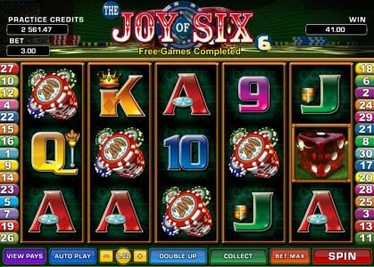 Play slots at Grand Mondial: Grand Mondial featuring the Video Slots Joy of Six with a maximum payout of $75,000