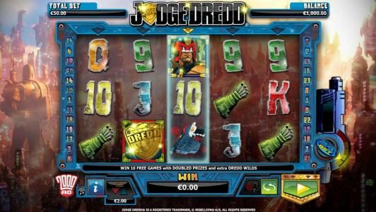Enzo Casino featuring the Video Slots Judge Dredd with a maximum payout of $4,000