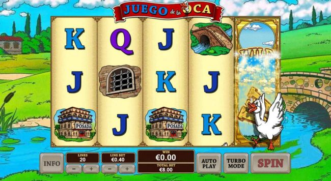 Euro Grand featuring the Video Slots Juego De La Oca with a maximum payout of $20,000