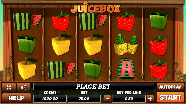 Venetian featuring the Video Slots Juice Box with a maximum payout of $50,000