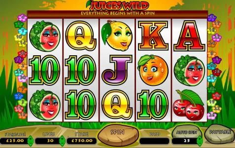 Play slots at Slots Angel: Slots Angel featuring the Video Slots Juices Wild with a maximum payout of $7,500