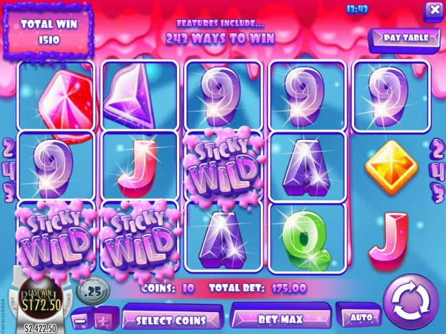 Mayan Fortune featuring the Video Slots Juicy Jewels with a maximum payout of $37,500