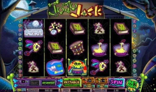 TS featuring the Video Slots Juju Jack with a maximum payout of $20,000