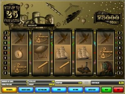 Long Harbour featuring the Video Slots Jules Verne with a maximum payout of $5,000