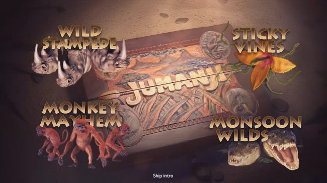 Casino Room featuring the Video Slots Jumanji with a maximum payout of $100,800