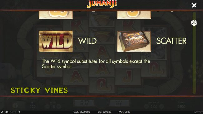 Maxino featuring the Video Slots Jumanji with a maximum payout of $100,800