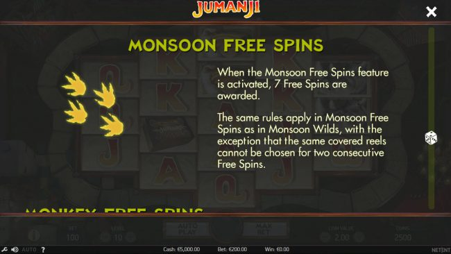 Lucky Me Slots featuring the Video Slots Jumanji with a maximum payout of $100,800