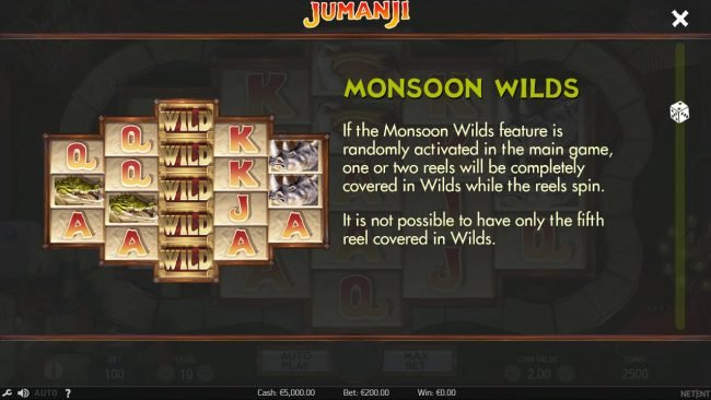 ReelTastic featuring the Video Slots Jumanji with a maximum payout of $100,800