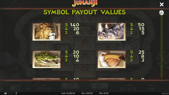 Leo Vegas featuring the Video Slots Jumanji with a maximum payout of $100,800