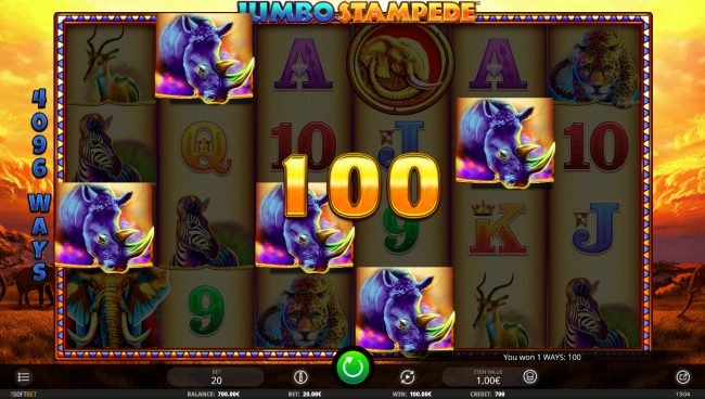 Jumbo Stampede :: A winning five of a kind