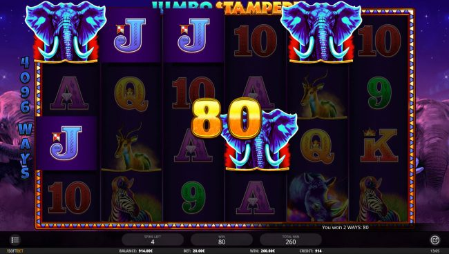 Jumbo Stampede :: Multiple winning combinations