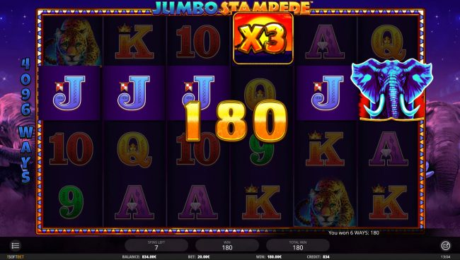 Jumbo Stampede :: Free Spins Game Board