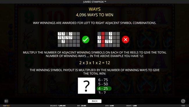Jumbo Stampede :: 4096 Ways to Win