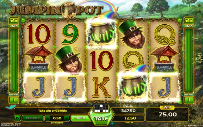 Yoyo featuring the Video Slots Jumpin' Pot with a maximum payout of $1,250