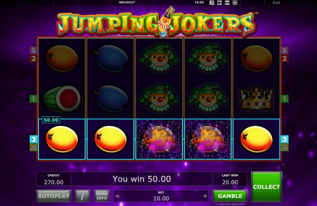 Ladbrokes featuring the Video Slots Jumping Jokers with a maximum payout of $50,000