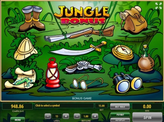 Unique Casino featuring the Video Slots Jungle Adventure with a maximum payout of $375,000