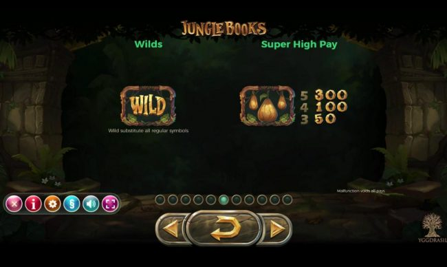 Leo Vegas featuring the Video Slots Jungle Books with a maximum payout of $1,250,000