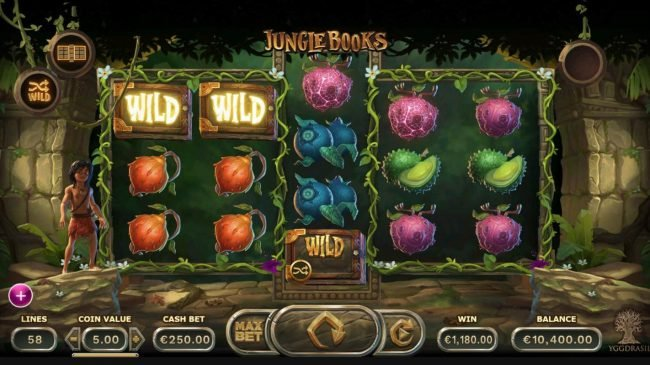 Casino Cruise featuring the Video Slots Jungle Books with a maximum payout of $1,250,000