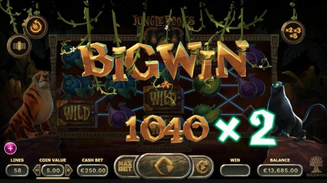 7Red featuring the Video Slots Jungle Books with a maximum payout of $1,250,000