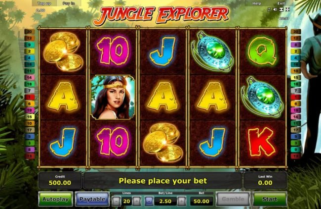 Play slots at Company: Company featuring the Video Slots Jungle Explorer with a maximum payout of $100,000