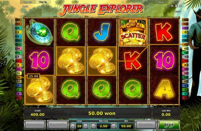 Jungle Explorer :: A winning Three of a Kind.
