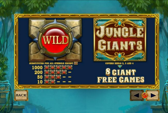 Class 1 Casino featuring the Video Slots Jungle Giants with a maximum payout of $2,500,000