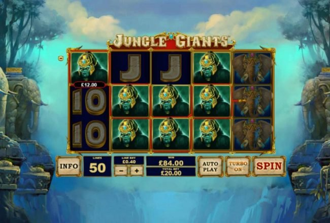50 Stars featuring the Video Slots Jungle Giants with a maximum payout of $2,500,000
