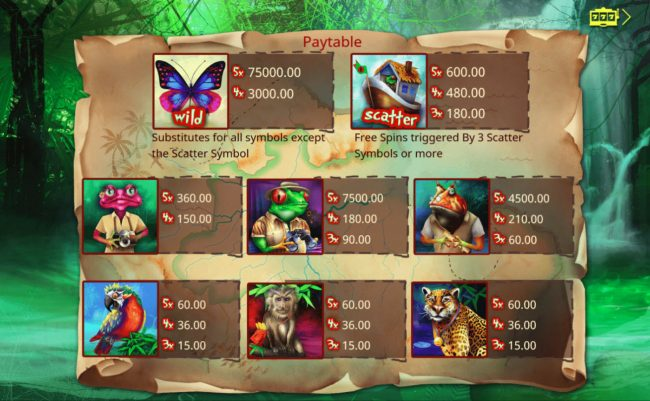 Vegas Crest featuring the Video Slots Jungle Jumpers with a maximum payout of $75,000