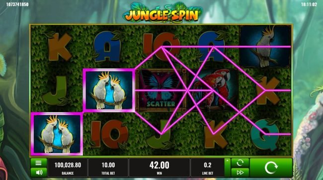 Play slots at Betflip Casino: Betflip Casino featuring the Video Slots Jungle Spin with a maximum payout of $500,000