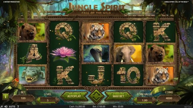 Play slots at Casino Room: Casino Room featuring the Video Slots Jungle Spirit Call of the Wild with a maximum payout of $15,000