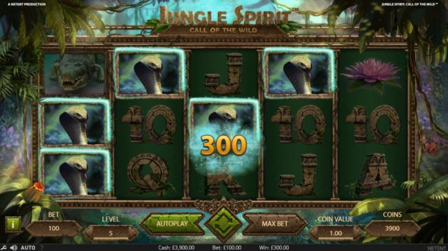 My Win 24 featuring the Video Slots Jungle Spirit Call of the Wild with a maximum payout of $15,000