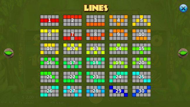 Jungle :: Paylines 1-30
