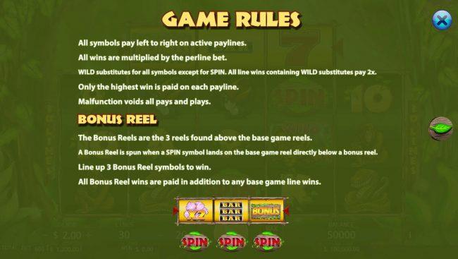 Jungle :: Bonus Game Rules